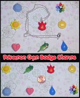 Pokemon Gym Badge Charms by YellerCrakka
