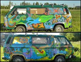 My hippie bus by Katherine-DeathMouse