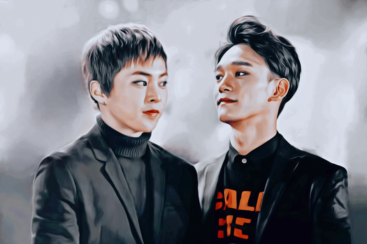Xiumin and Chen by bubble-min