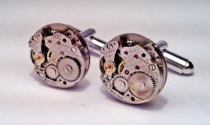 Round Steampunk Cufflinks by SteamDesigns