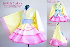 Fluttershy My Little Pony MLP Cosplay Kimono Dress by DarlingArmy