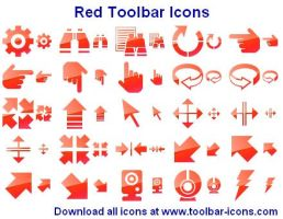 Red Toolbar Icons by shockvideoee