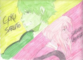 Power Rangers Pink and Green by Enthaga