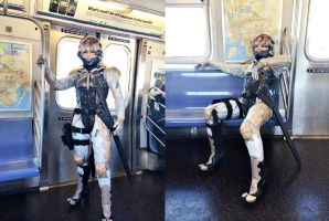 Raiden NYC Subway by ProVoltageCosplay