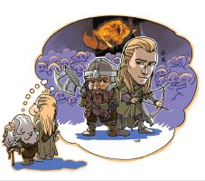 Old gimli and legolas by BlindspotVisual