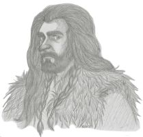 Thorin sketch by Kriegswaffle