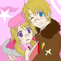hetalia america and his sister canada by mewmew284
