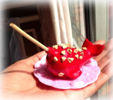 Candy apple narwhal by SprinkleChick