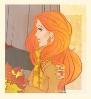 Autumn Lily by LilyRedHaired