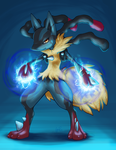 Mega Lucario by CaptainMoony