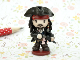 Commission:Captain Jack Sparrow Handmade Figurine by lyrese