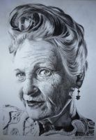 Vivienne Westwood - A4 Tonal Pencil Drawing by GLC12