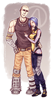 Krieg and Maya by cynellis