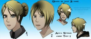 Anya Stroud Anime Test I by WinterSpectrum