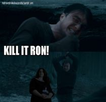 Kill it, Ron! by halftimelord-wizard