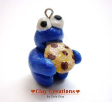 Cookie Monster Pendant by phoenixcarla