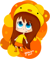 Chibi duck girl by GabieGaga91