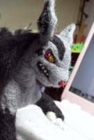Mightyena - needle felting by Piquipauparro