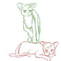 i just remembered i can't draw cats by PrimrosePaint