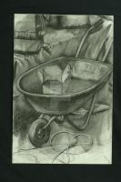 Wheelbarrow Still Life by AdriennexBronco
