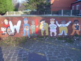 Welcome sign nursery mural by Will1885