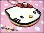 Hello Kitty Cookie Necklace by GrandmaThunderpants