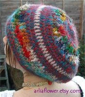 Sari silk tam hat by arliaflower