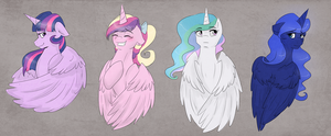 Princesses sketch dump by llacky