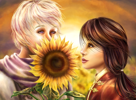 Rochu - Sunflowers by FimbulvetrIce