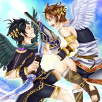 Kid Icarus: Pitt and Kuropitt by EmbahMabok