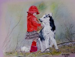 Little Red Riding Hood by HendrikHermans