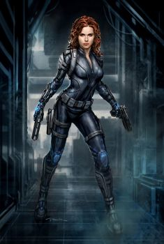 The Avengers- Black Widow 03 by andyparkart