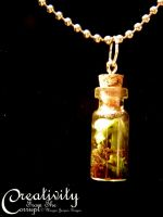 Terrarium Necklace- Jade plant by CreativityFTCorrupt