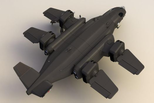 Thunderhawk Heavy Dropship BR I by Quesocito