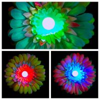 Electric Daisy LED Rainbow Hair Flower Clip by GeekStarCostuming
