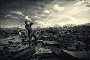 Apocalyptical Golf Round - 3 by peka-photography