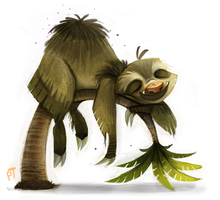 Day 522. Sketch Dailies Challenge - Sloth by Cryptid-Creations