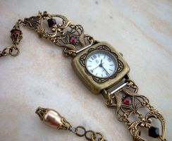 Brass Hearts Watch by Aranwen