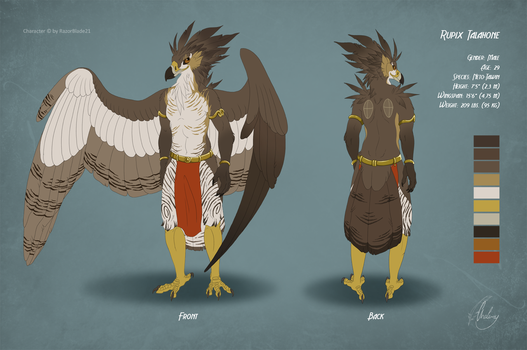 Commission - Reference sheet RUPIX by Chaluny