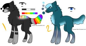 Cheap Dog/Wolf Emo Adoptables! *CLOSED* by German-Mutt