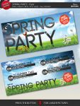 Spring Party Flyer Template by isoarts2