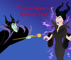 Maleficent's Revenge on Angelina Jolie by AndrewSS23
