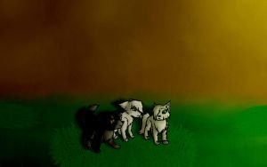 Silver Bear and Moon ~For Silver~ by Luna748Fire