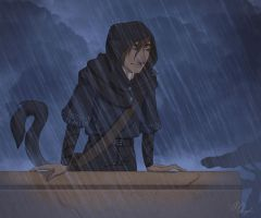 Just a Little Rain (animated) by Nemo-7