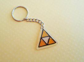 Triforce Key Chain by PoppyCorn99