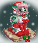 Commish - Vanully's Ready for Xmas by CaramelKitt