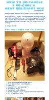 How to De-tangle and Re-curl a Heat Resistant Wig by MoogleGurl