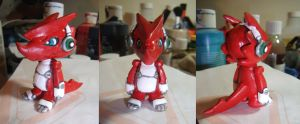 Shoutmon Sculpey Figure by Ethenae