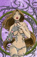Witchblade pinup -david-nakaya by Darkratbat