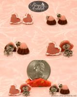 Candy and Cookie Studs by chat-noir